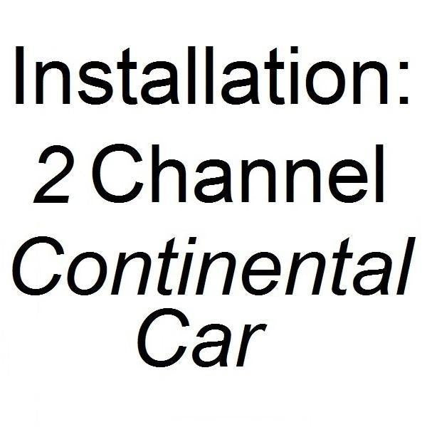 Installation - DUAL Channel Dash Cam (CONTI CAR)