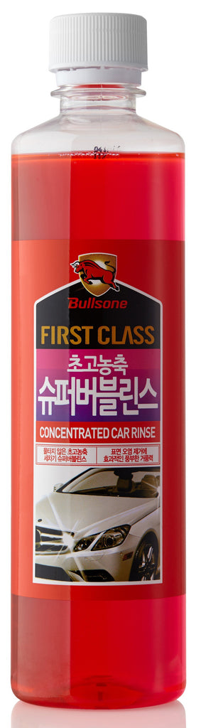 Bullsone First Class High Concentrated for Car Washing Soap - Super Bubble Rinse 500ml (16.91oz)