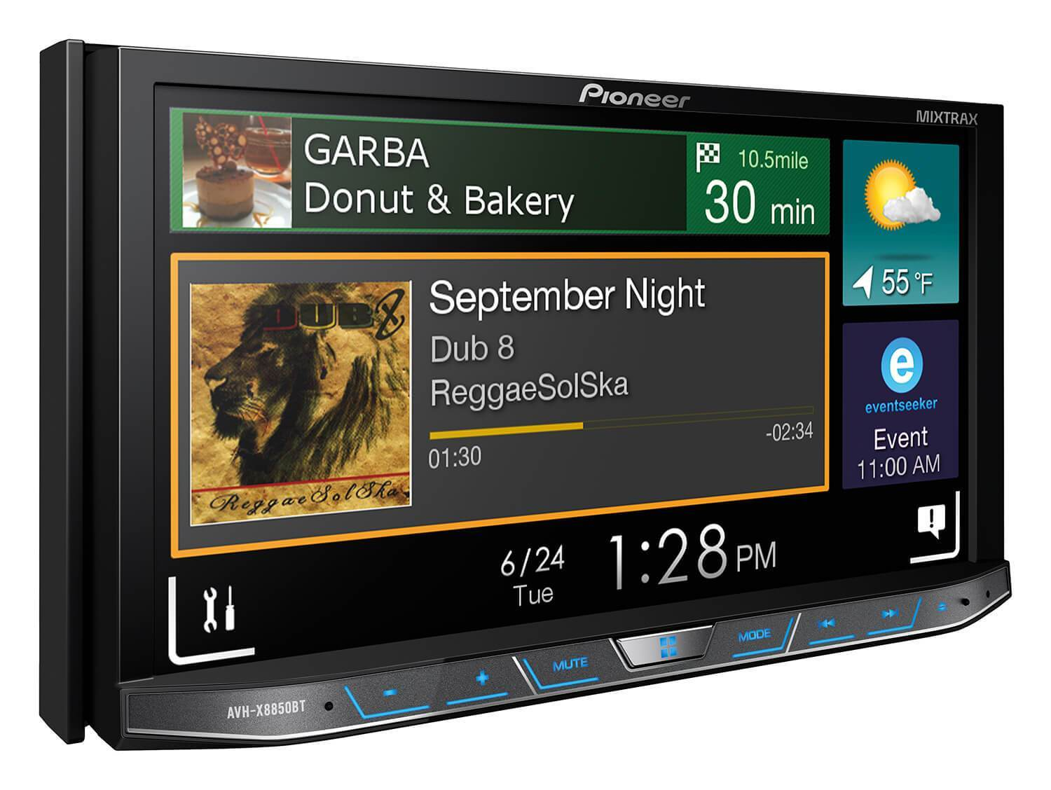 Pioneer AVH X8850BT Monitor with DVD Player