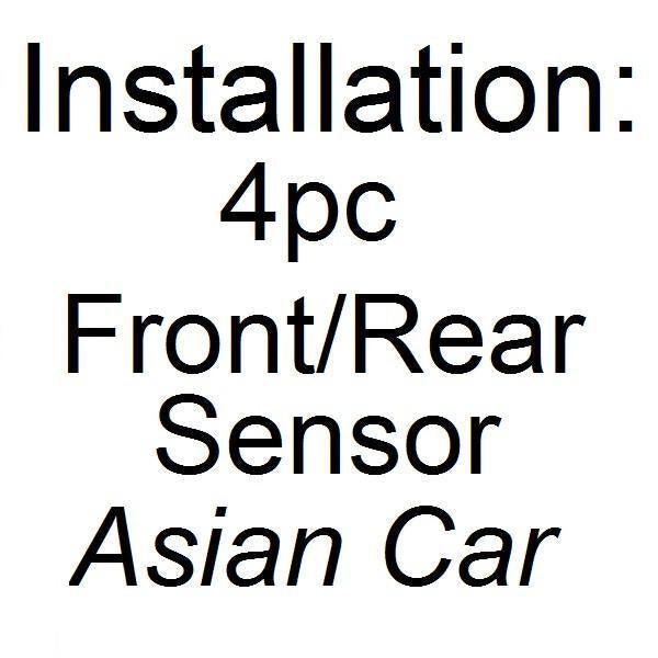 Installation - Parking Assist 4 Pcs Front/ Rear Sensors (ASIAN CAR)