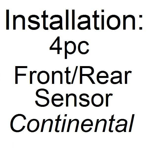 Installation - Parking Assist 4 Pcs Front/ Rear Sensors (Conti CAR)