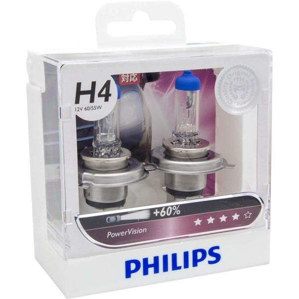 Philips Headlamp H4 PowerVision 12V 60/55W 12342 PWV