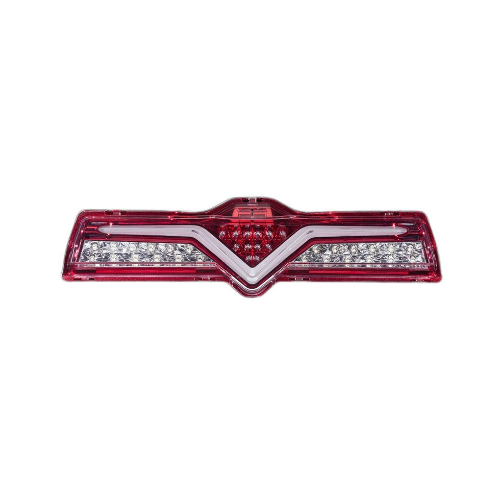 Valenti Rear Fog Lamp Clear Lens / Red Chrome Inner Reflector