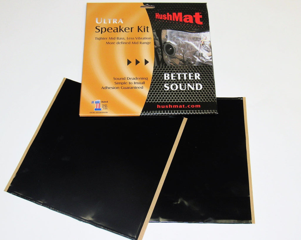 "HushMat Speaker Kit - 2 Sheets 10"" x 10"" ea - Black (Part Number: 10110)"