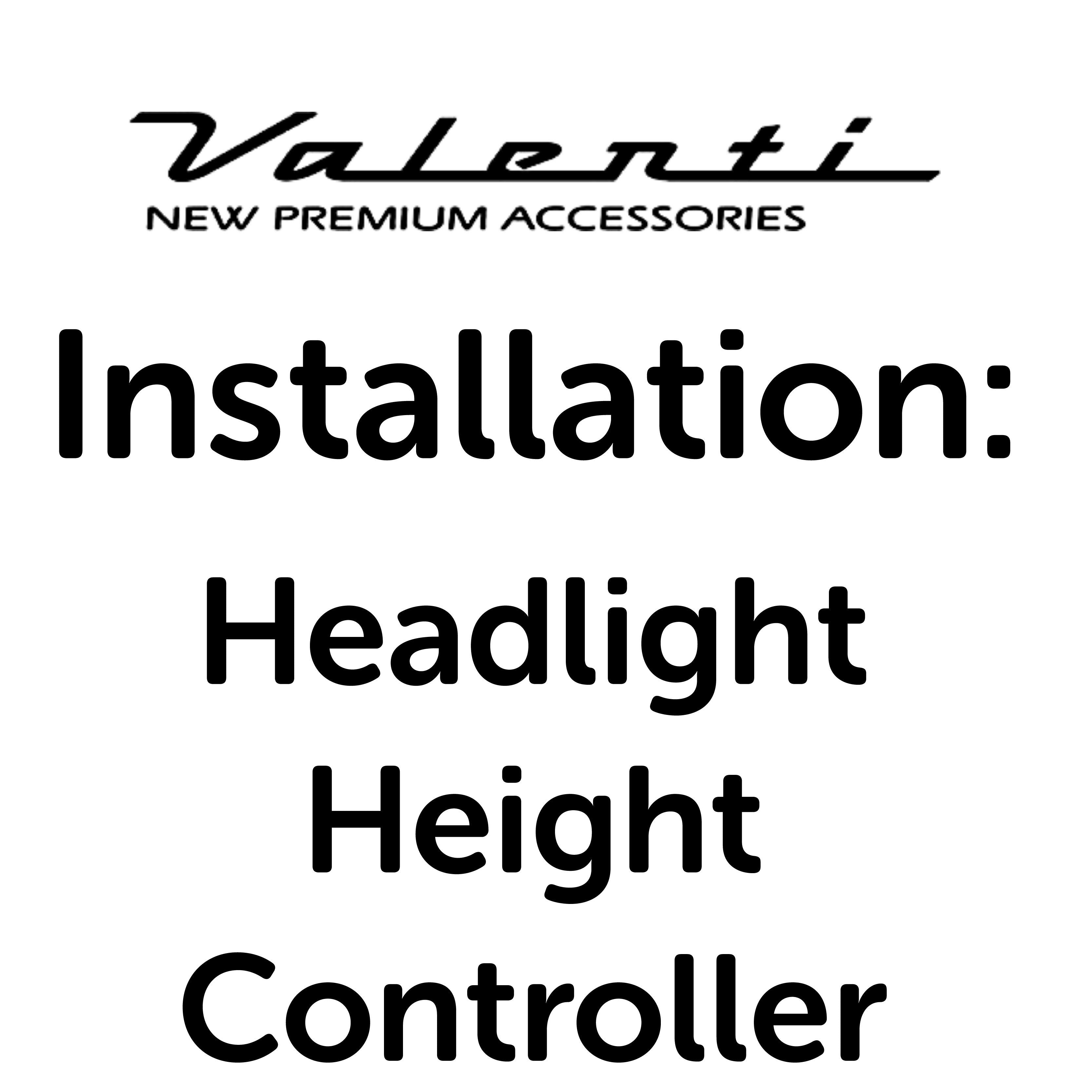 Installation VA - Headlight Height Controller