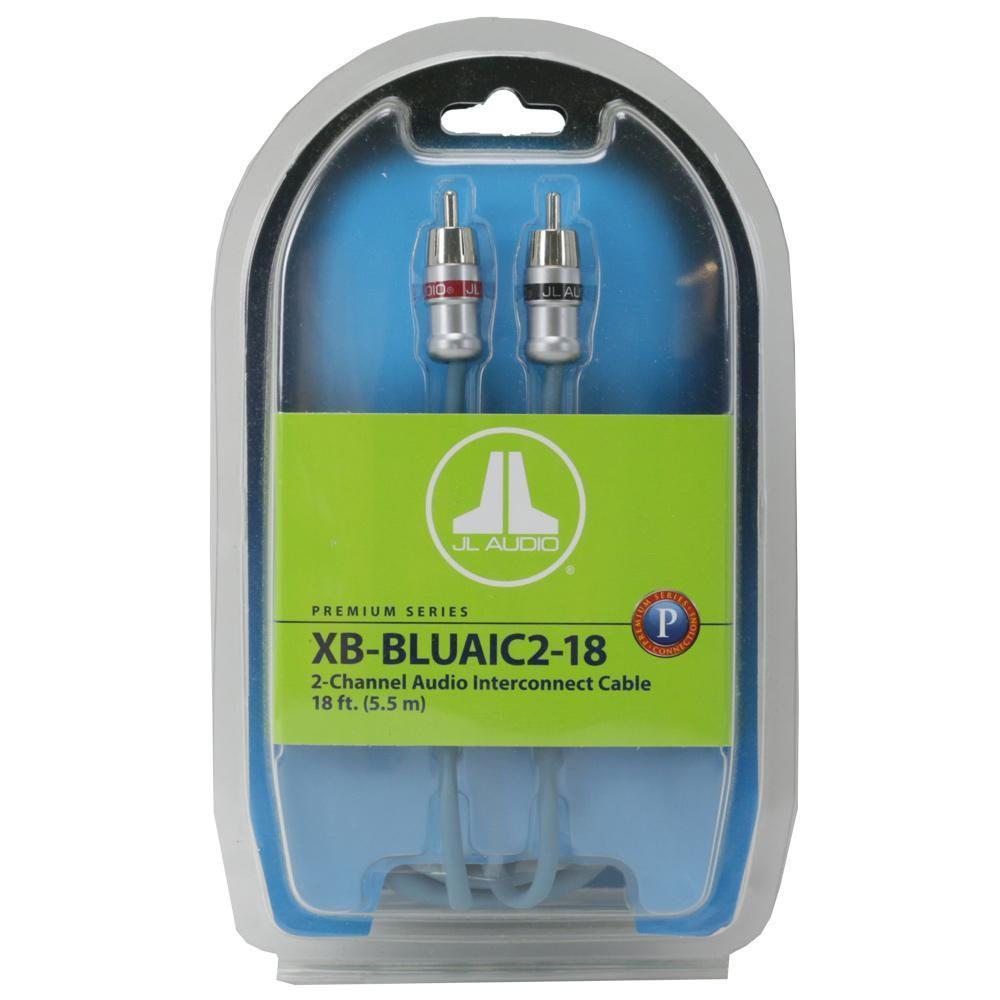 JL Audio 2-ch Twisted-Pair Audio Interconnect w/ Machined Connectors - 18 ft. / 5.49 m XB-BLUAIC2-18 (SKU # 91628) (Master Pack Quantity : 4pcs)