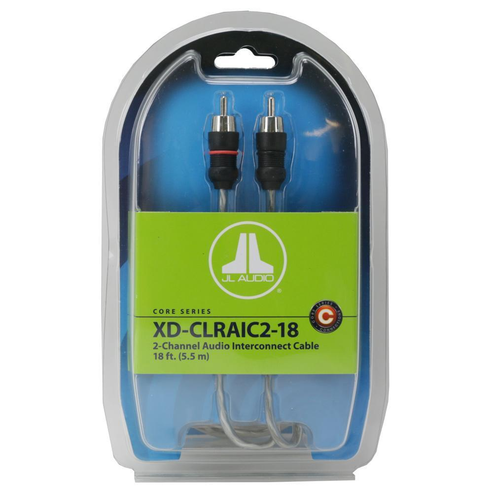 JL Audio 2-ch Twisted-Pair Audio Interconnect w/ Molded Connectors - 18 ft. / 5.49 m XD-CLRAIC2-18 (SKU # 90426) (Master Pack Quantity : 4pcs)