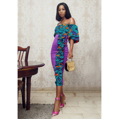 Adensecret Denike Ankara African Print Dress