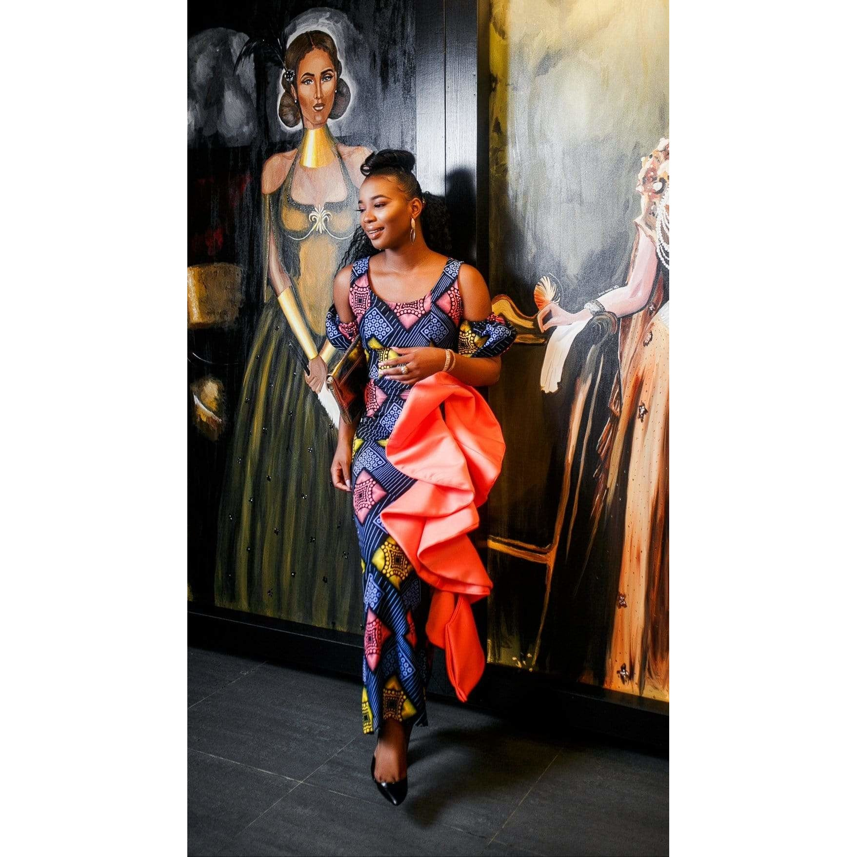 Adensecret Moladeh african print dress