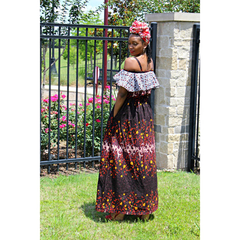 Bukola African print Ankara Dress