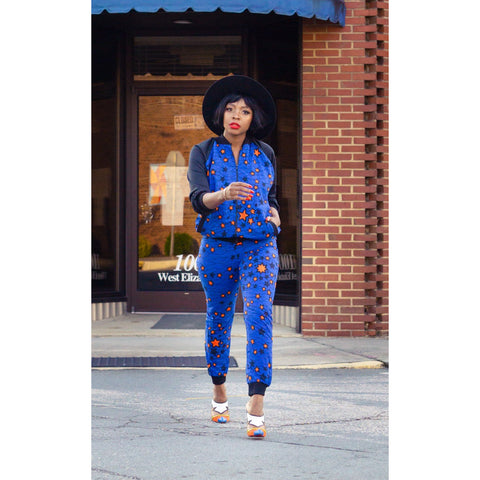 Adensecret Adeh Ankara jacket and pant set