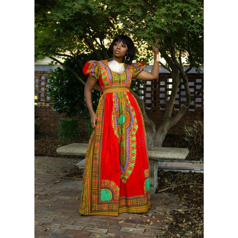 Adensecret Amoree african print dress