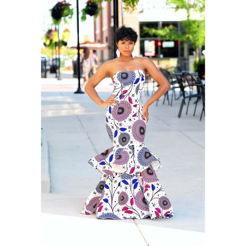 Omolola African Print Dress
