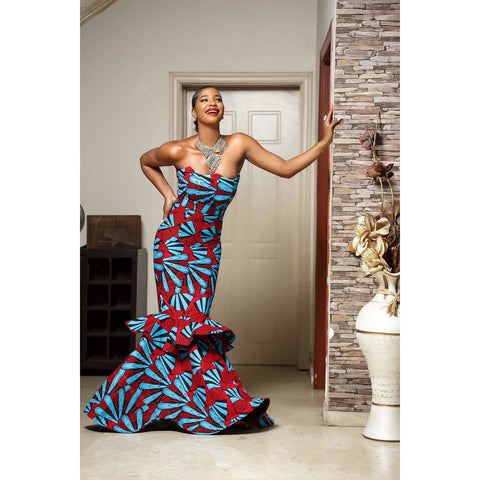 ORITOKE Ankara African Print Dress