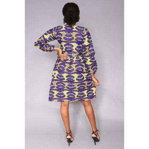 Mani African Print Ankara Wrap Dress