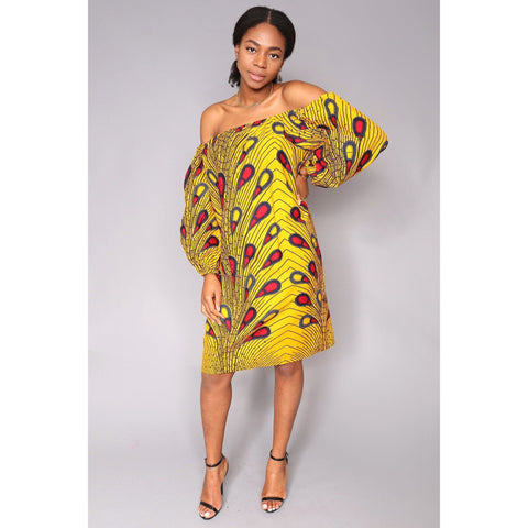 Wurah off Shoulder Dress - Yellow