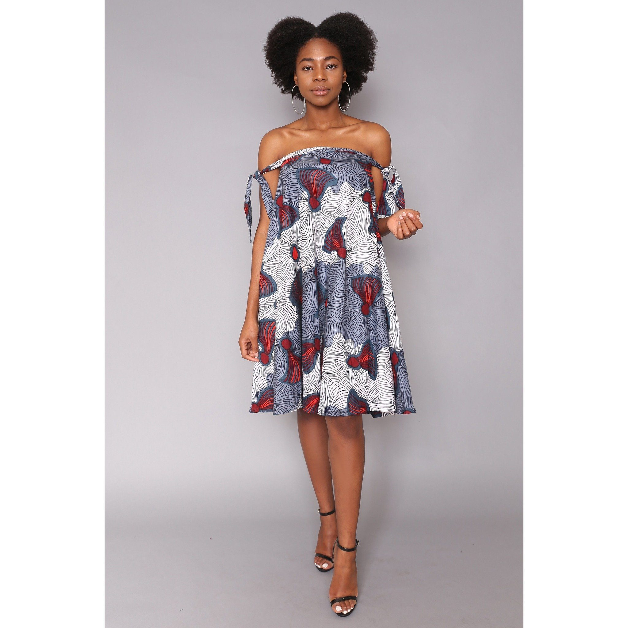 Afuwa African Print off shoulder Ankara Dress