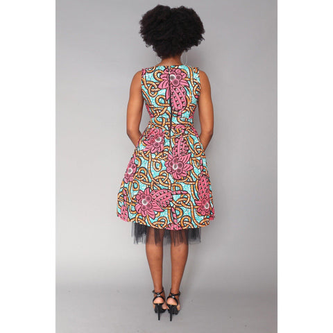 Keyah African Print Ankara Dress