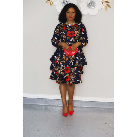 Afolabi African Print Ankara Dress
