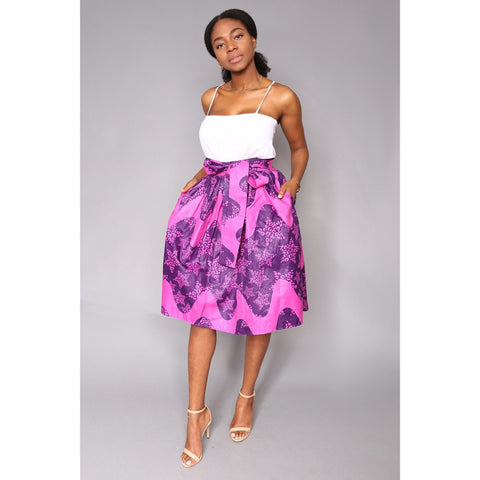 Sola Skirt African Print Blue/Purple