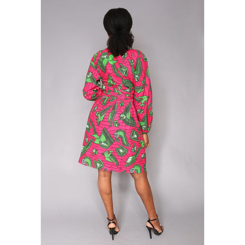 Efe Wrap African Print Ankara Dress