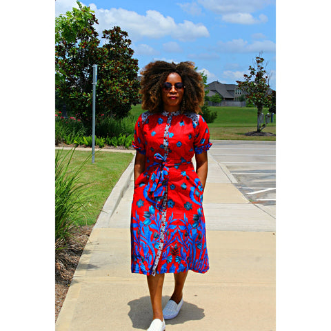 Adunni African print Ankara Dress