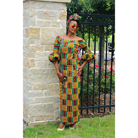 Adensecret Bello Ankara dress