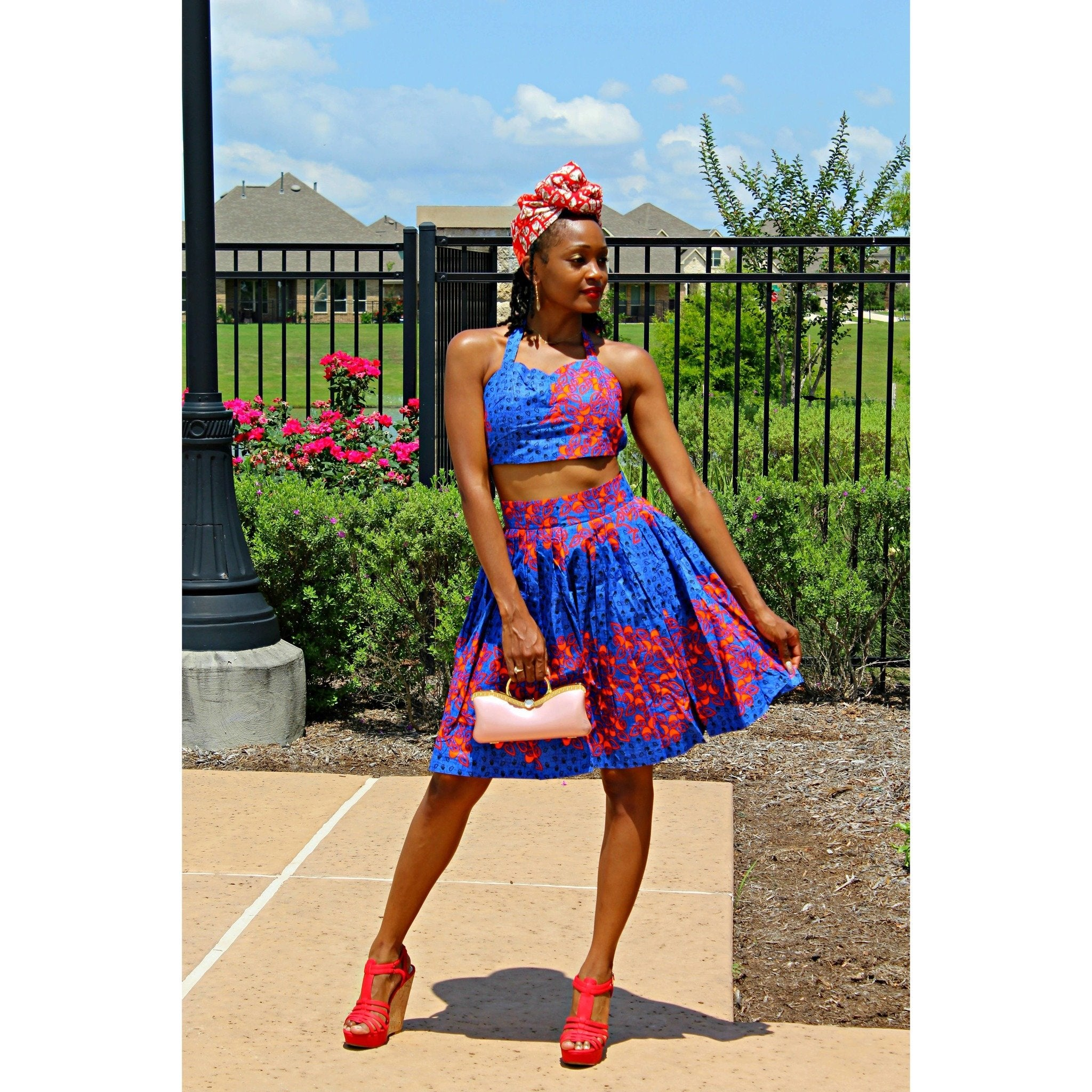 Adensecret Onola Ankara Long Top and skirt set