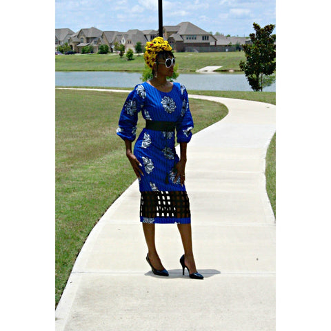 Adensecret Ayeba Ankara dress