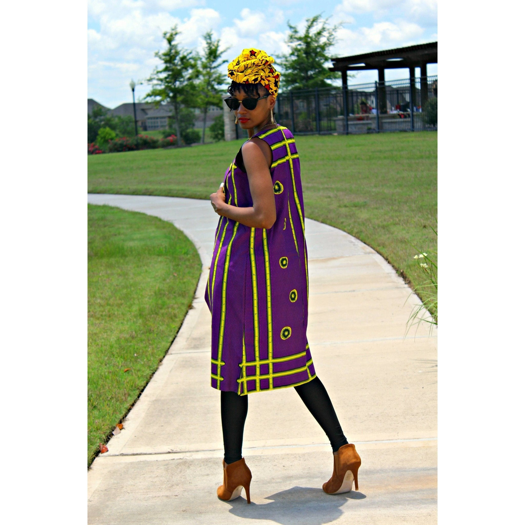 Adensecret MOBOLA Ankara Long Top