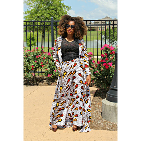Adensecret Morola Ankara Long Top and pant set