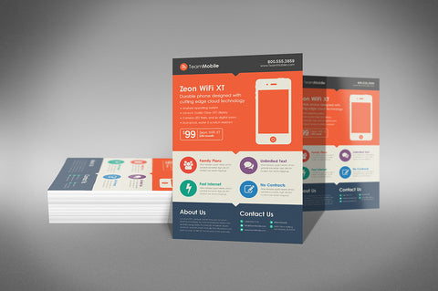 Flyers / Data Sheets - Short Run Digital Printing