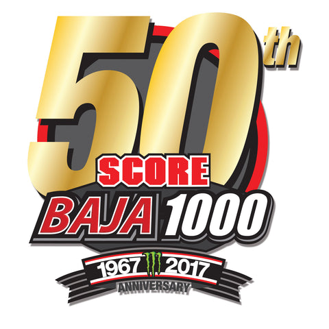 50th Anniversary SCORE BAJA 1000 Decal