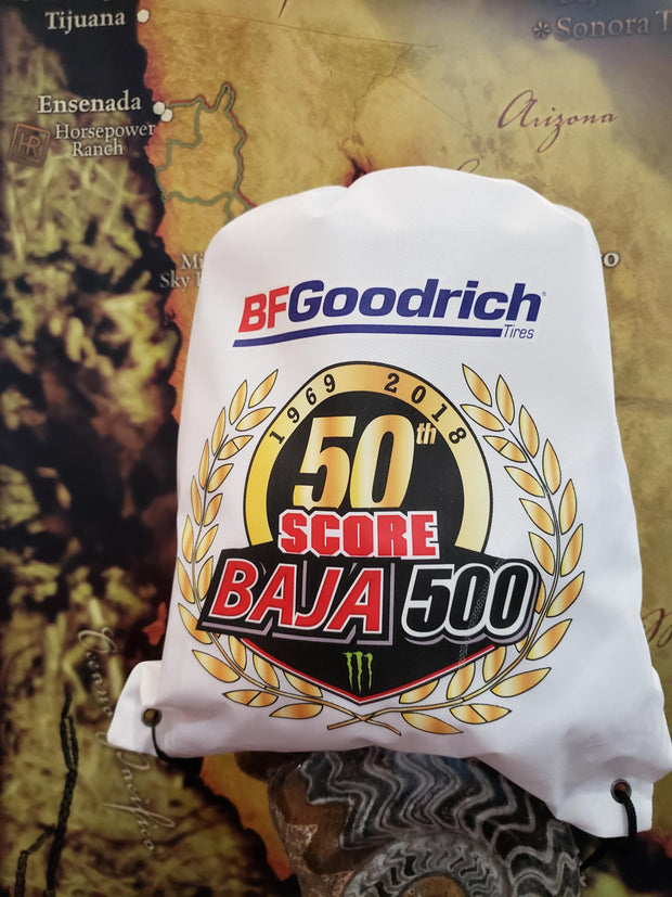 Commemorative 50th Baja 500 Drawstring Bag