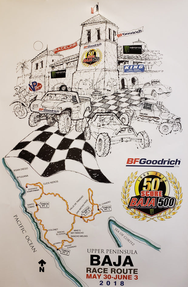 Commemorative Baja 500 2018 Poster