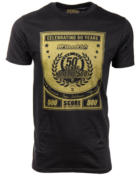 GOLD 50th BAJA 500  TEE