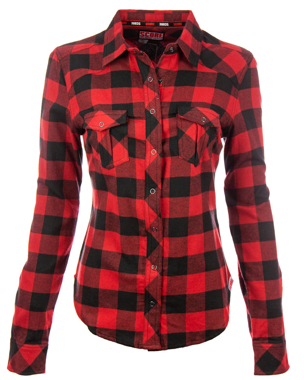 Ladies Long Sleeve Flannel Shirt
