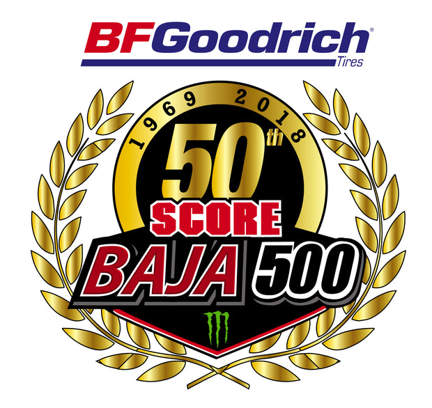 2018 SCORE 50th Anniversary BAJA 500 Decal
