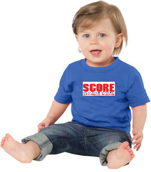 Infant 54oz-100% Cotton Tee with SCORE logo