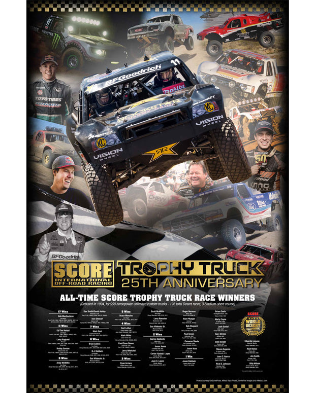 Trophy Truck 25th Anniversary Poster