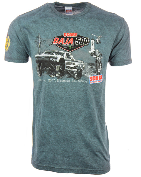2017 BAJA 500 Trophy Truck Map Tee