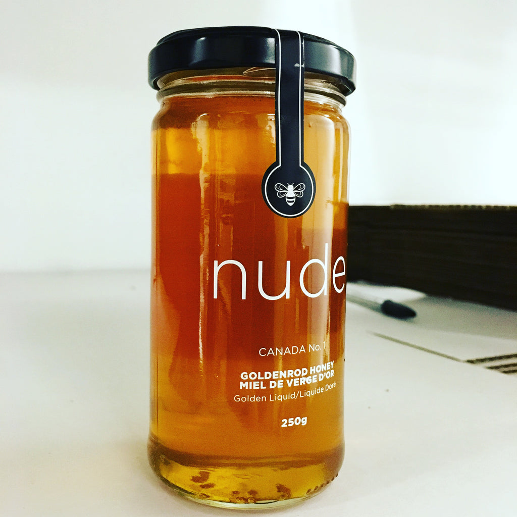 The First Jar Of Nude Bee Golden Rod Honey