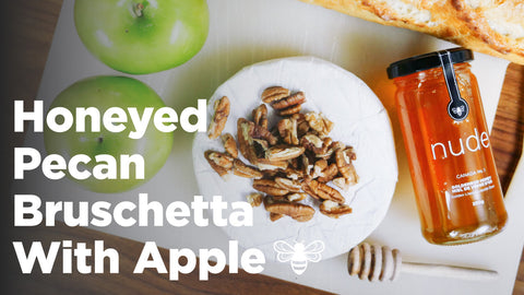 Recipe | Apple Pecan Bruschetta With Raw Honey
