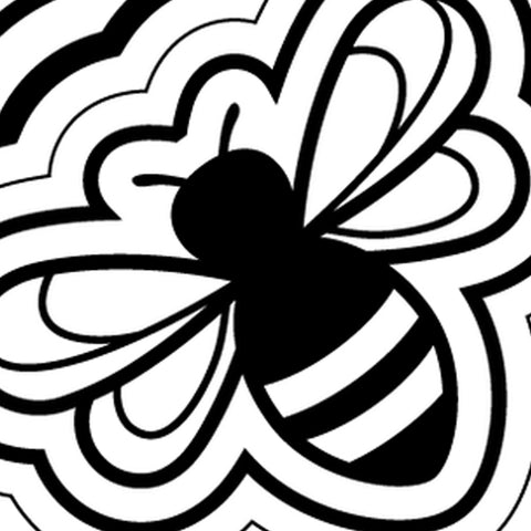 Nude Bee Buzzing Bee Close Up (Logo)