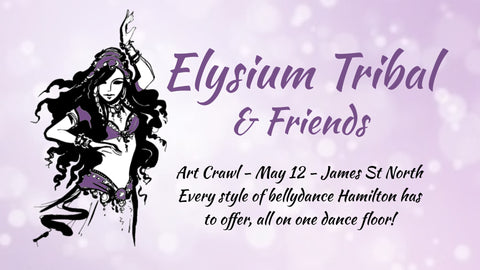 Elysium Tribal & friends perform at James St N Art Crawl May 12