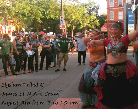 Elysium Tribal - American Tribal Style belly dance troupe performs in Hamilton at the James St N Art Crawl