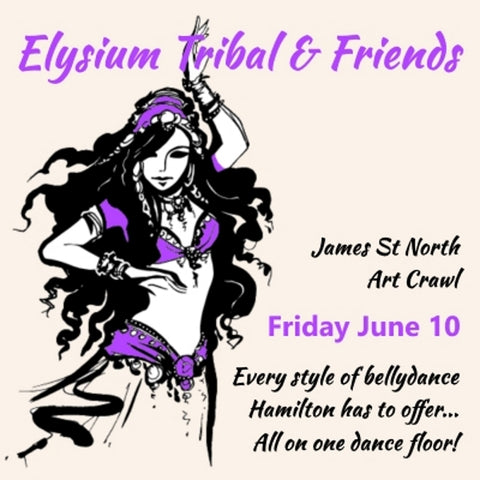 Elysium Tribal Bellydance studio James St N Hamilton performance