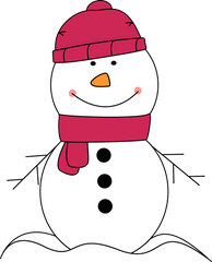 Snowman with pink scarf from MyCuteGraphics