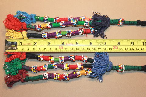 "9 1/2"" Cotton Tassels with Multi Colored Beading"