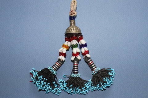 "6"" Beaded Tribal Tassel With Shells"